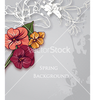 Free floral background vector - Free vector #240337