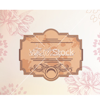Free floral background vector - Free vector #240357