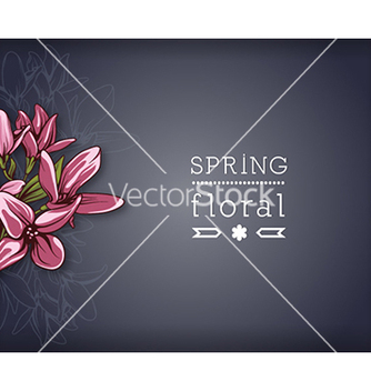 Free floral background vector - Free vector #240377