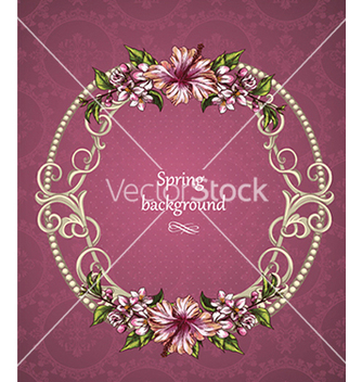 Free floral background vector - Free vector #240407