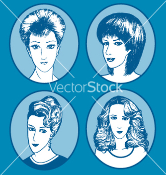 Free female hair style hand drawn vector - бесплатный vector #240447