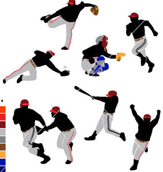 Free basic baseball icon vector - vector gratuit #240477