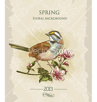 Free floral background vector - Free vector #240517