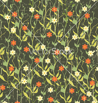 Free seamless floral background vector - Kostenloses vector #240627