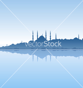 Free istanbul and sea vector - Free vector #240727