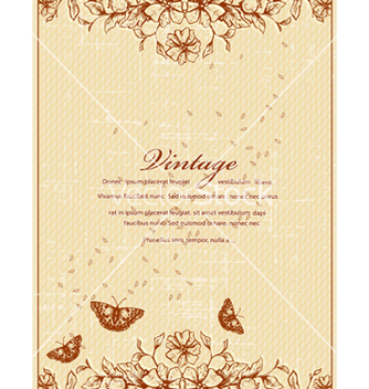 Free vintage floral background vector - Kostenloses vector #240747