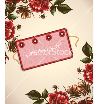 Free floral background vector - Free vector #240757