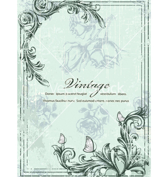 Free vintage floral background vector - vector gratuit #240797