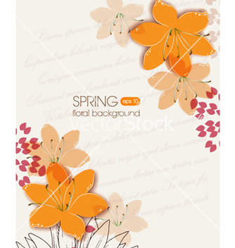 Free floral background vector - Free vector #240867