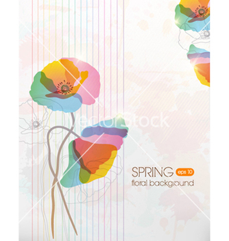 Free floral background vector - Free vector #241477