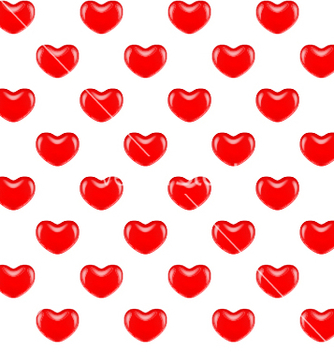 Free seamless pattern of red hearts vector - Free vector #241617