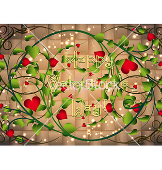 Free greeting card with heart bush in weaving vs vector - vector #242297 gratis