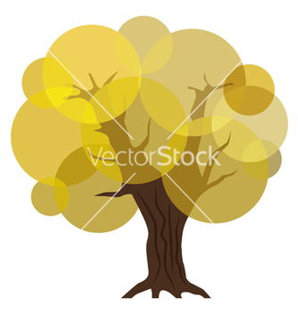 Free abstract autumn tree eps10 vector - Free vector #242497