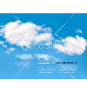 Free blue sky with clouds background vector - vector gratuit #242537
