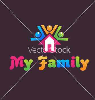 Free family house vector - Free vector #242567
