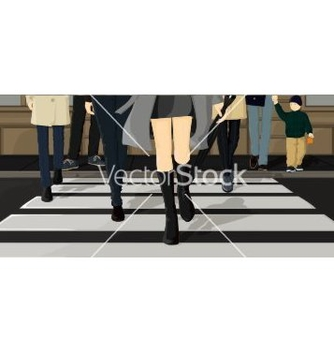 Free people crossing the street vector - vector gratuit #242607