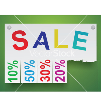 Free word sale in the form of stickers vector - vector #242617 gratis