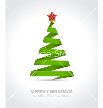 Free christmas tree from paper ribbon vector - Free vector #242637
