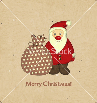 Free santa and bag with gifts vector - vector gratuit #242707
