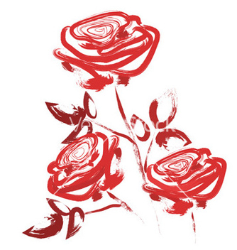 Free grunge roses vector - Free vector #242737