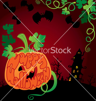 Free halloween frame with pumpkin vector - vector gratuit #242747