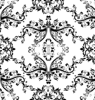 Free victorian seamless pattern vector - Kostenloses vector #242957