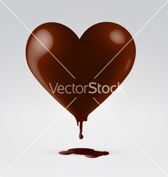Free chocolate dripping hot heart vector - Free vector #243007