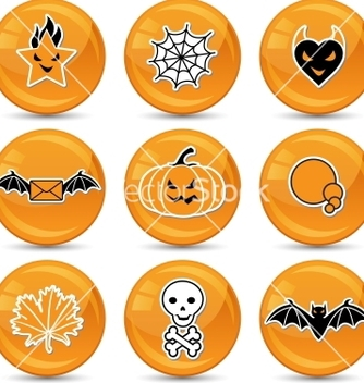 Free glossy halloween icons vector - бесплатный vector #243047