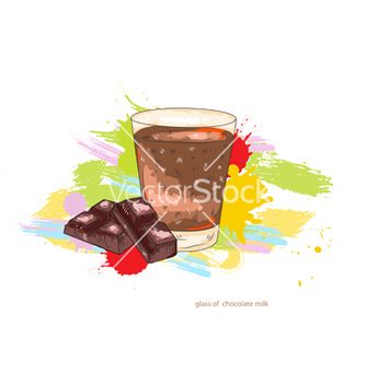 Free glass of chocolate milk vector - vector gratuit #243167