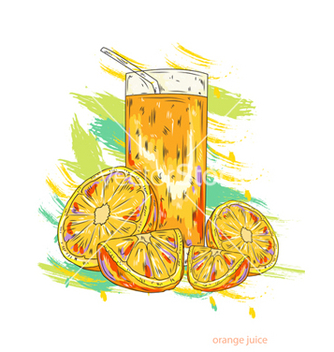 Free orange juice vector - vector gratuit #243197