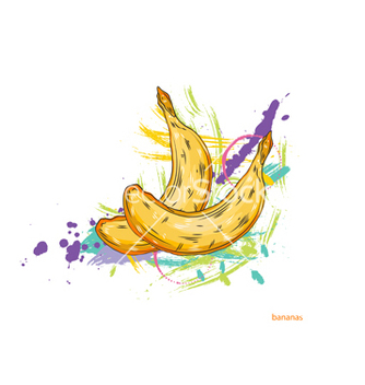 Free bananas with colorful splashes vector - Free vector #243237