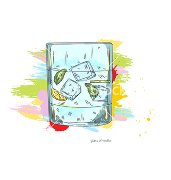 Free glass of vodka vector - Free vector #243247
