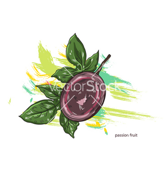 Free passion fruit with colorful splashes vector - Free vector #243297