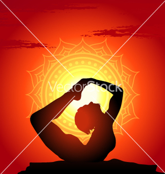 Free yoga poses at sunset background vector - Kostenloses vector #243467