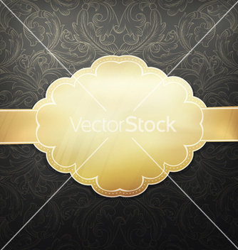 Free retro golden card vector - vector gratuit #243497