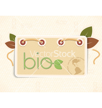 Free bio shopping tag vector - Free vector #243557