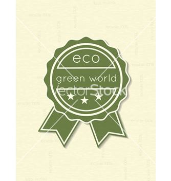 Free eco friendly label vector - Kostenloses vector #243667