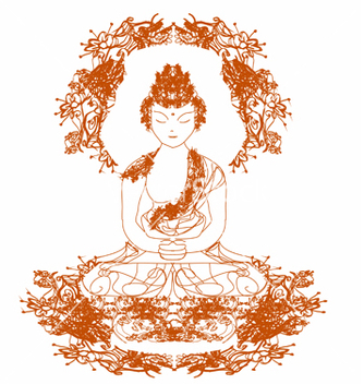 Free chinese traditional artistic buddhism pa vector - бесплатный vector #243787