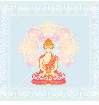 Free chinese traditional artistic buddhism pa vector - бесплатный vector #243797