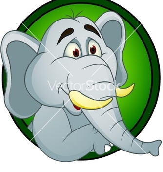 Free elephant cartoon vector - Kostenloses vector #243827