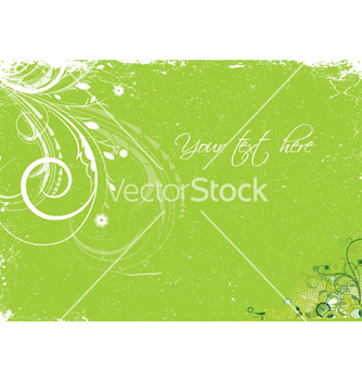 Free grunge floral vector - Free vector #243947