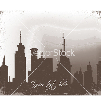 Free grunge background with city vector - Free vector #243977
