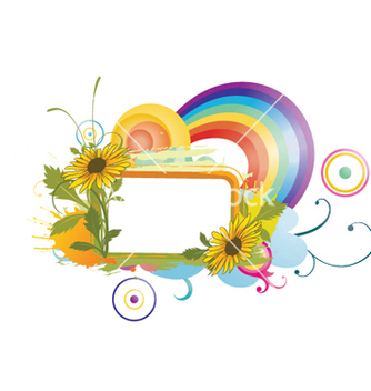 Free watercolor floral frame vector - бесплатный vector #244007