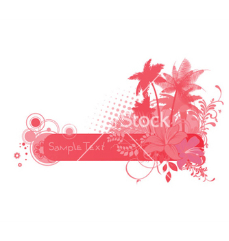 Free summer floral frame vector - Kostenloses vector #244017