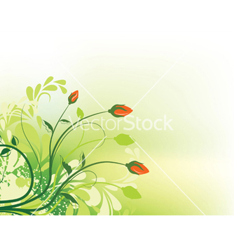 Free grunge floral background vector - бесплатный vector #244257