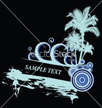 Free vintage summer background with palm trees vector - бесплатный vector #244307
