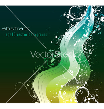 Free background with wave and floral vector - бесплатный vector #244407