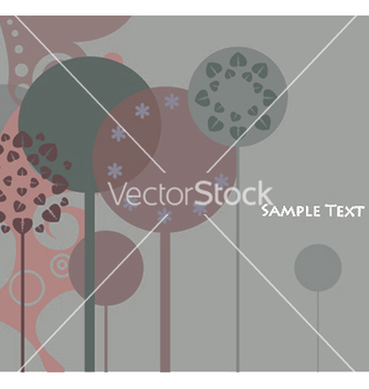 Free background with abstract trees vector - Free vector #244787