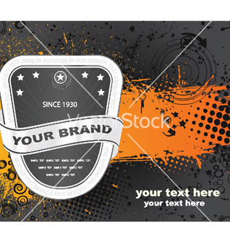 Free label with grunge vector - Kostenloses vector #244807