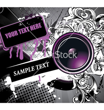 Free speaker with floral vector - Free vector #244957